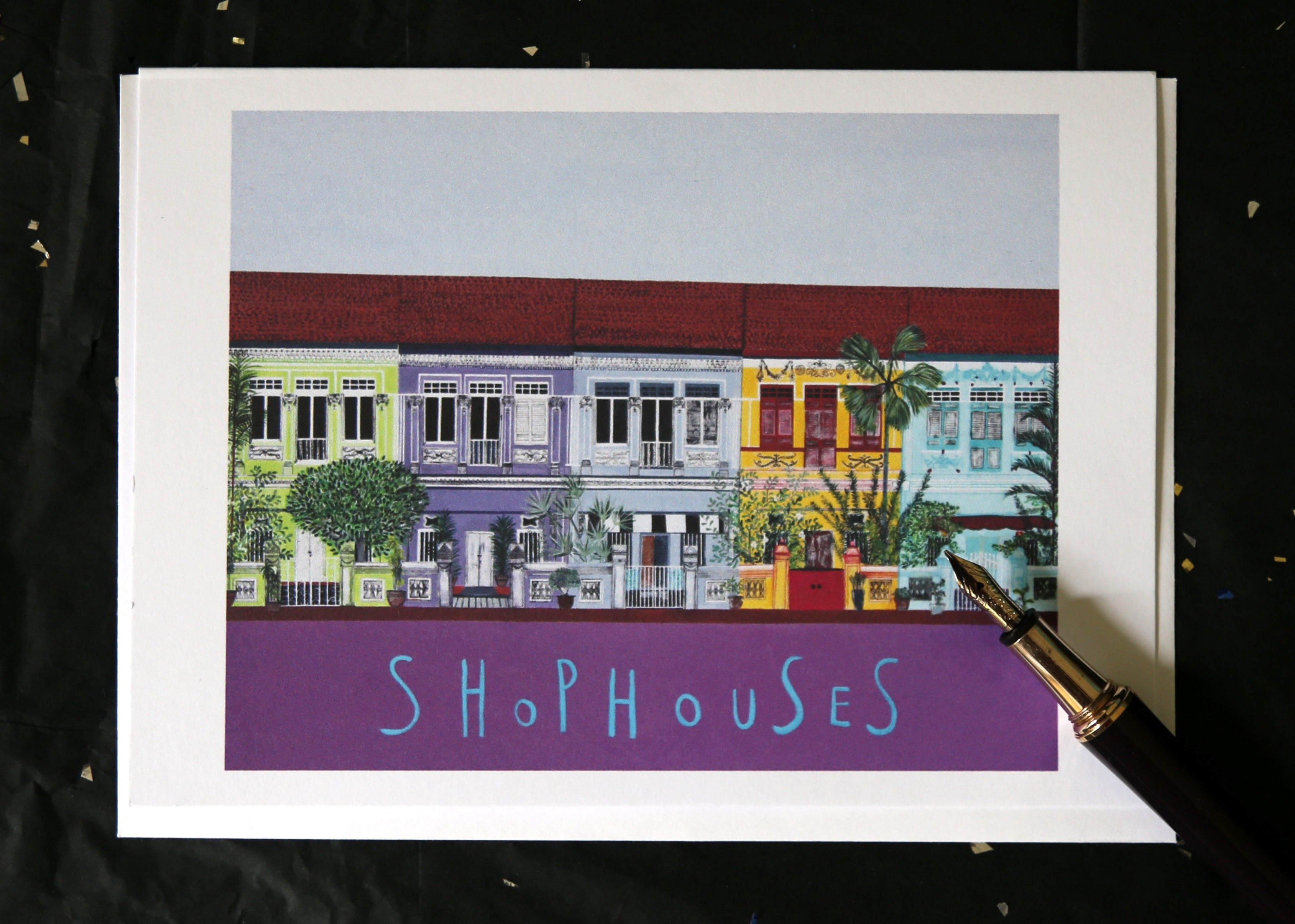 Singapore Greetings Cards - Shophouses Collection