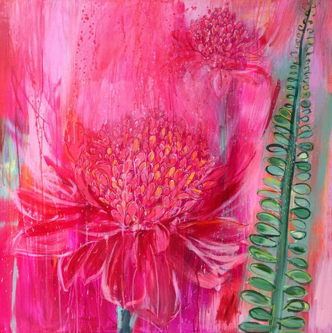 Clare Haxby The Ginger Lilies Called To Me Original Painting