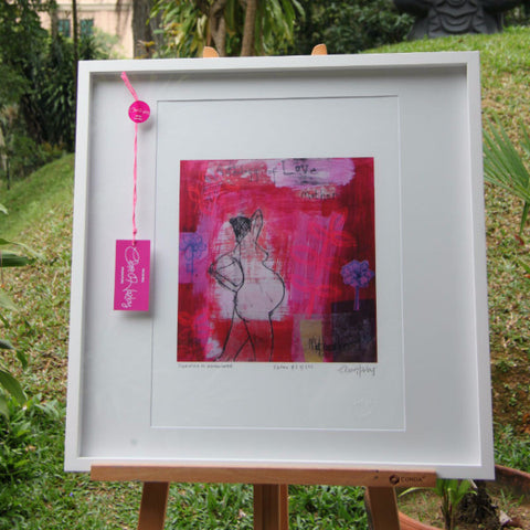 Emerging Motherhood - WHITE FRAME - SALE