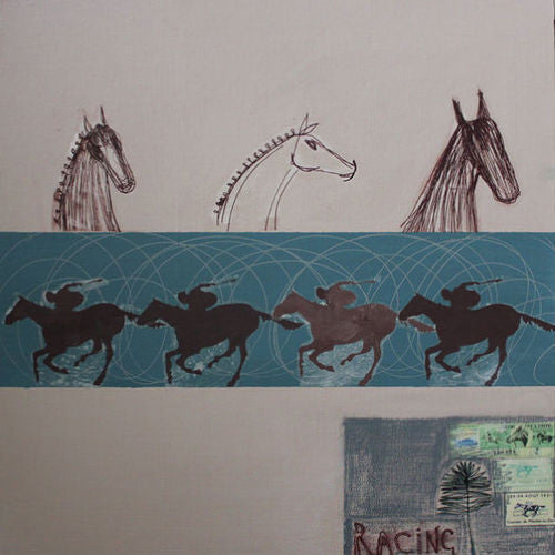 The Final Furlong Print by Clare Haxby