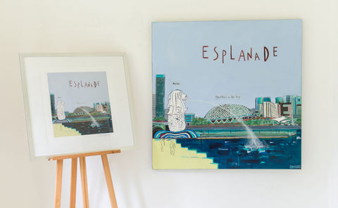 Esplanade Painting and Print by Clare Haxby