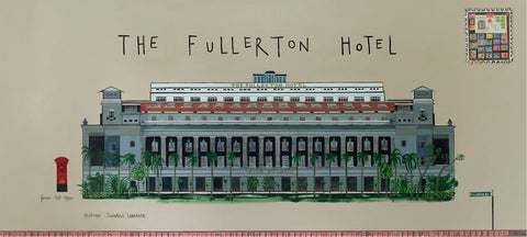 Fullerton Hotel Painting Clare Haxby
