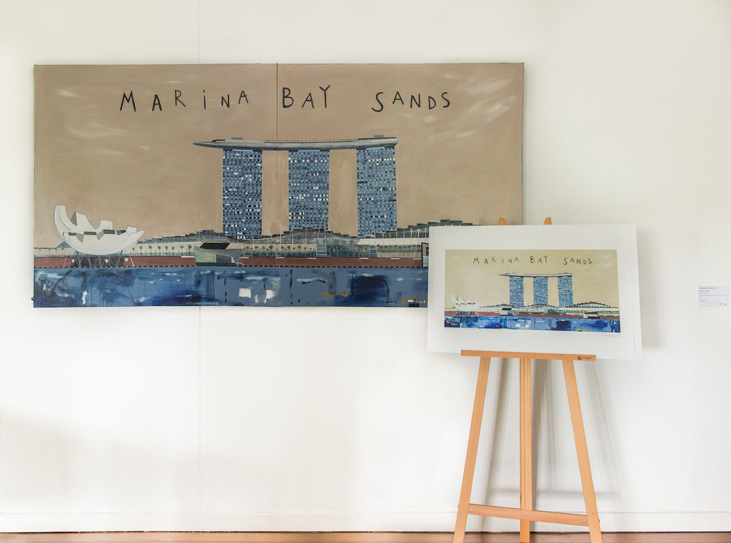 Original Marina Bay Sands Painting By Clare Haxby