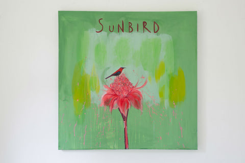 Sunbird Painting By Clare Haxby