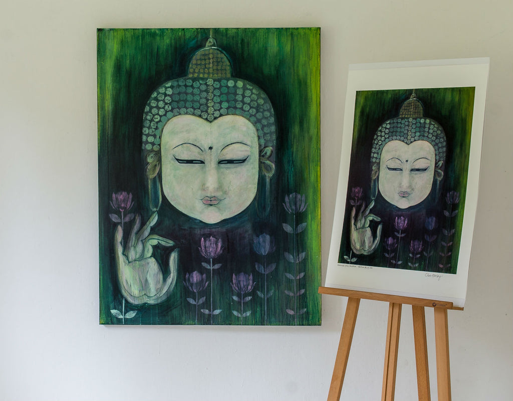 Emerald Lotus Buddha by Clare Haxby