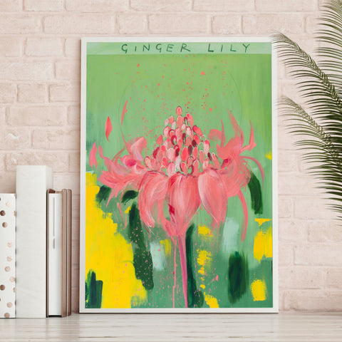 Meet Me At The Ginger Garden Art Print by Clare Haxby