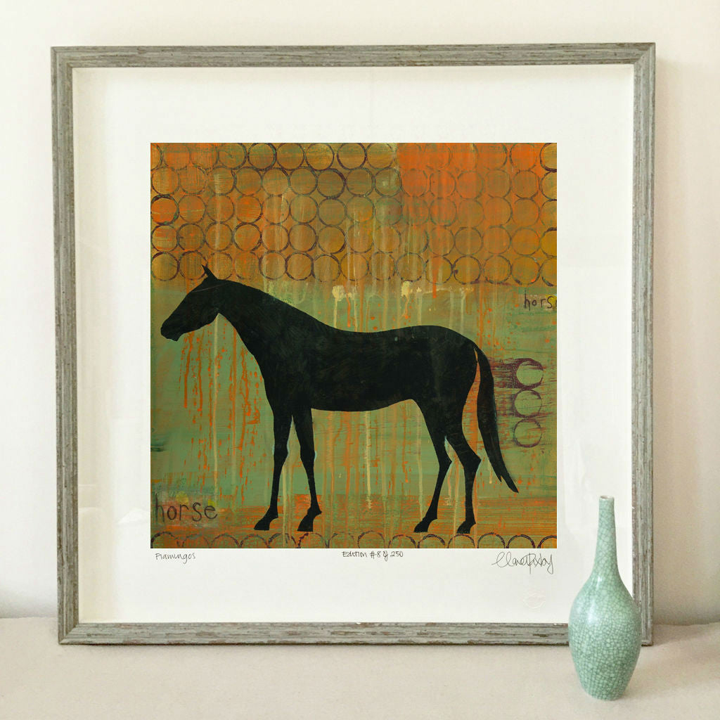 Horse Print Clare Haxby Artist Clarehaxby