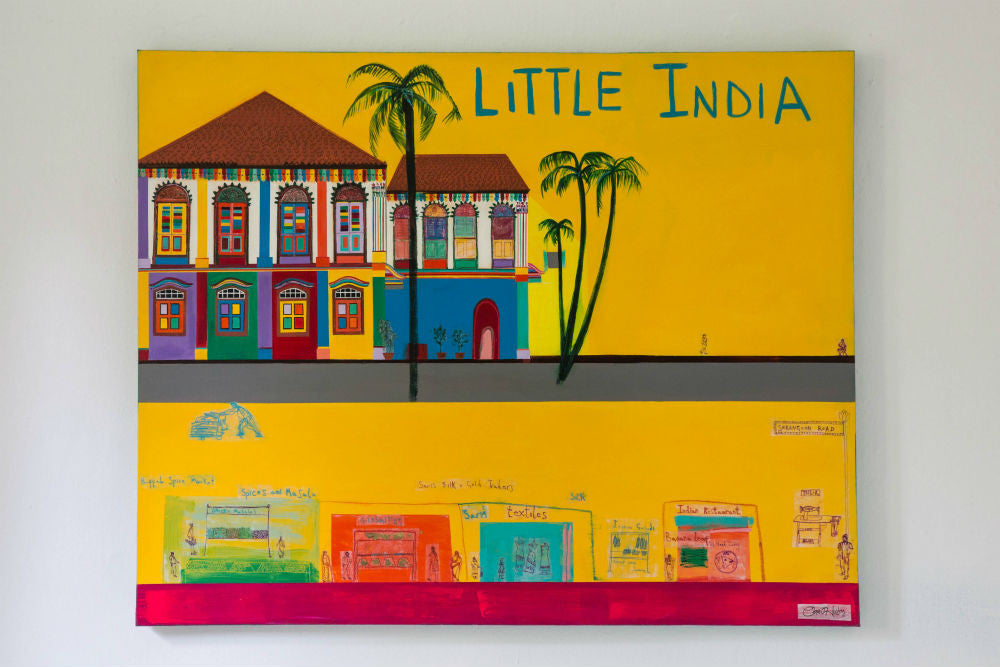 Little India Painting By Clare Haxby