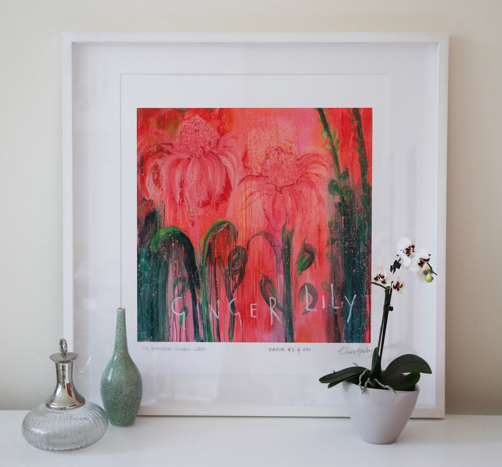 My Beautiful Ginger Lilies Art Print