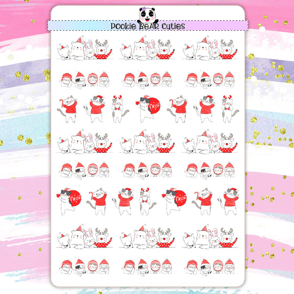 Christmas Animal Divider Stickers