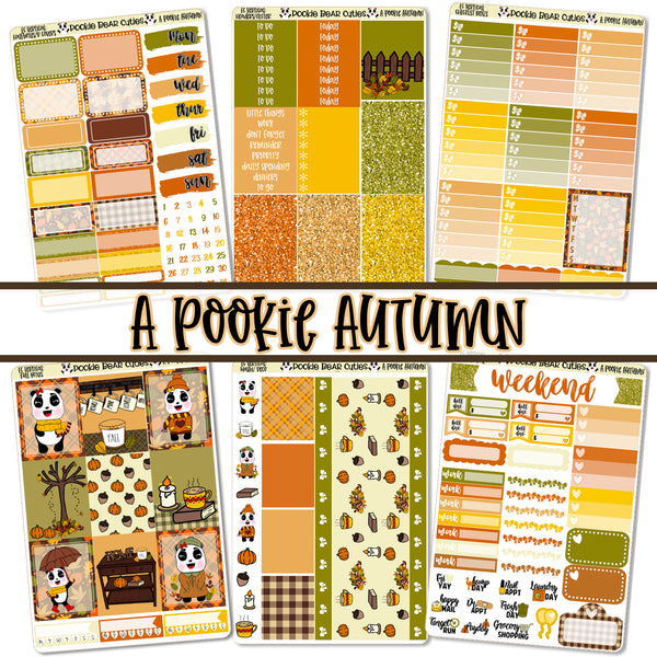 A Pookie Autumn Weekly Kit