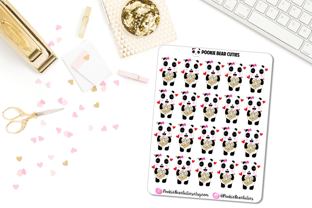 Pookie Bear Happy Mail Stickers