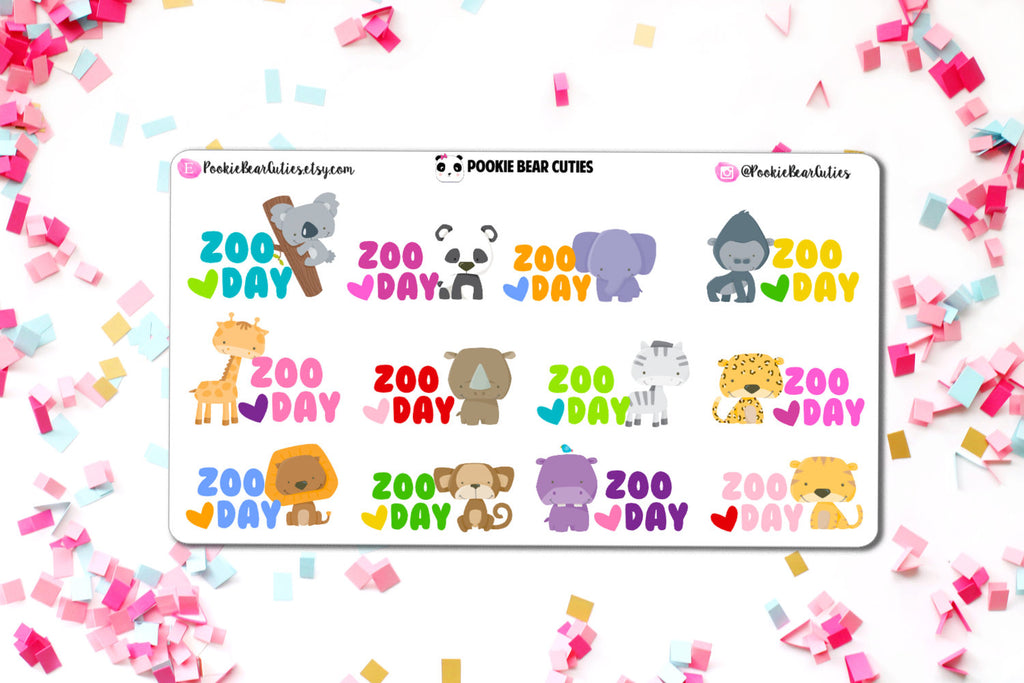 Zoo Day Stickers