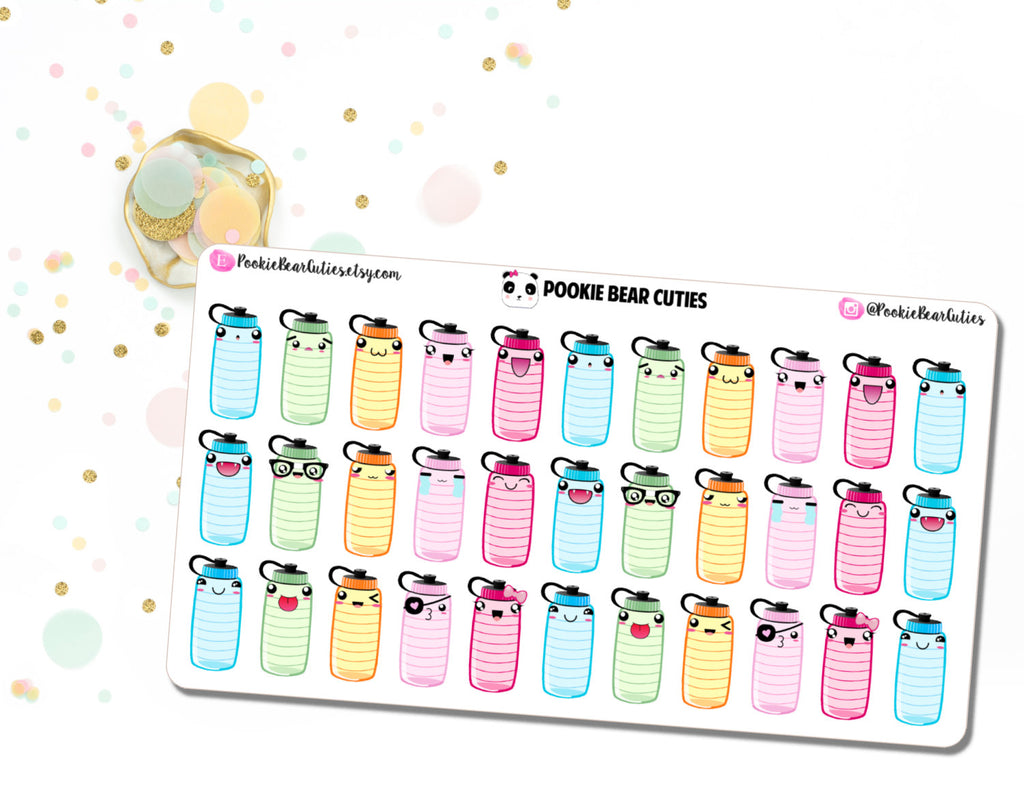 Kawaii Hydrate Stickers