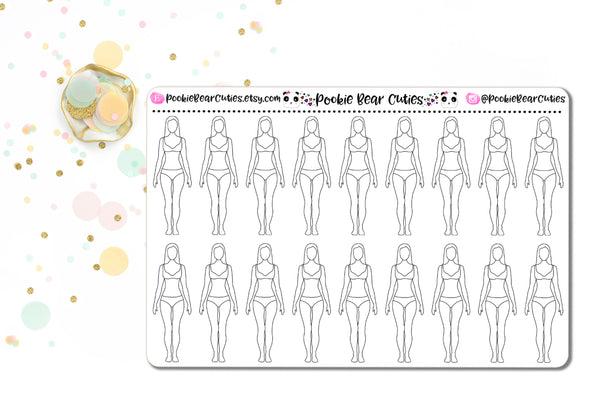 Body Outline Stickers