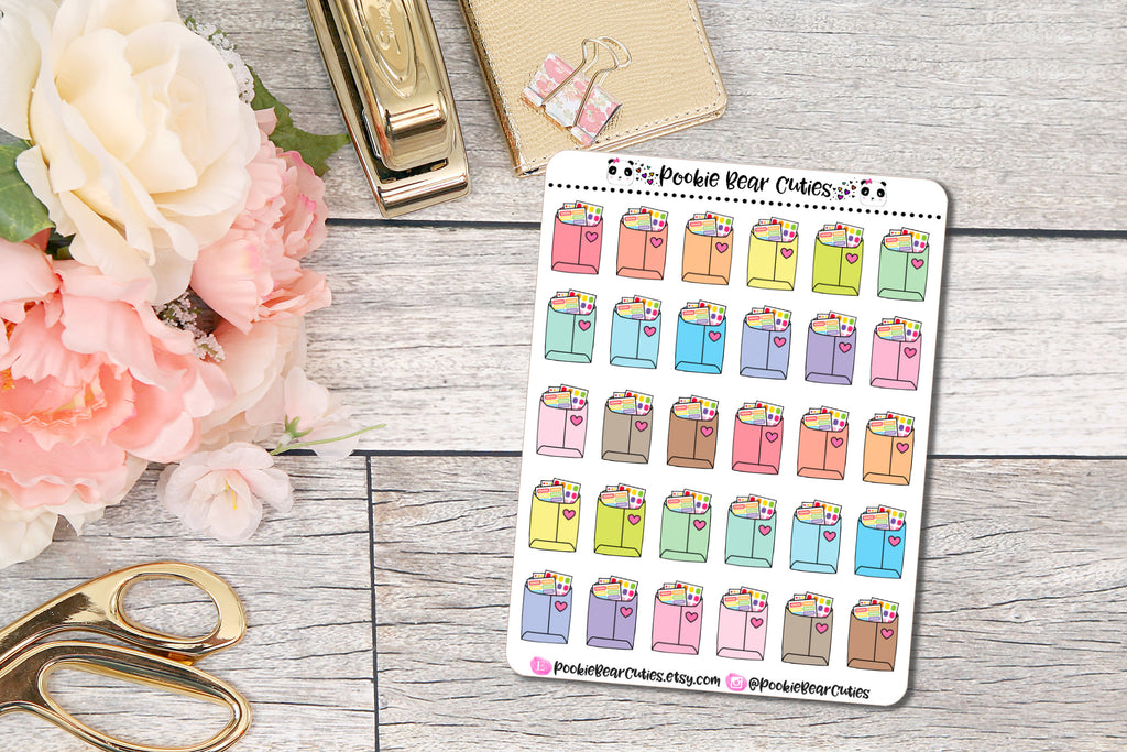 Happy Mail Stickers Pastel
