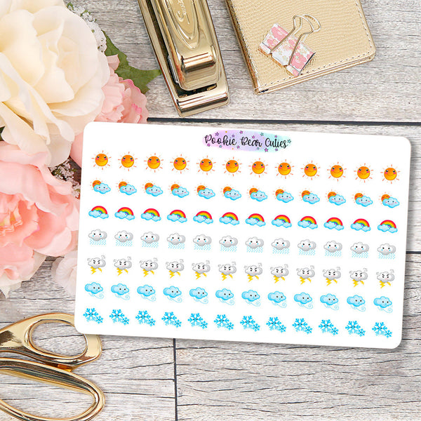 Kawaii Weather Stickers