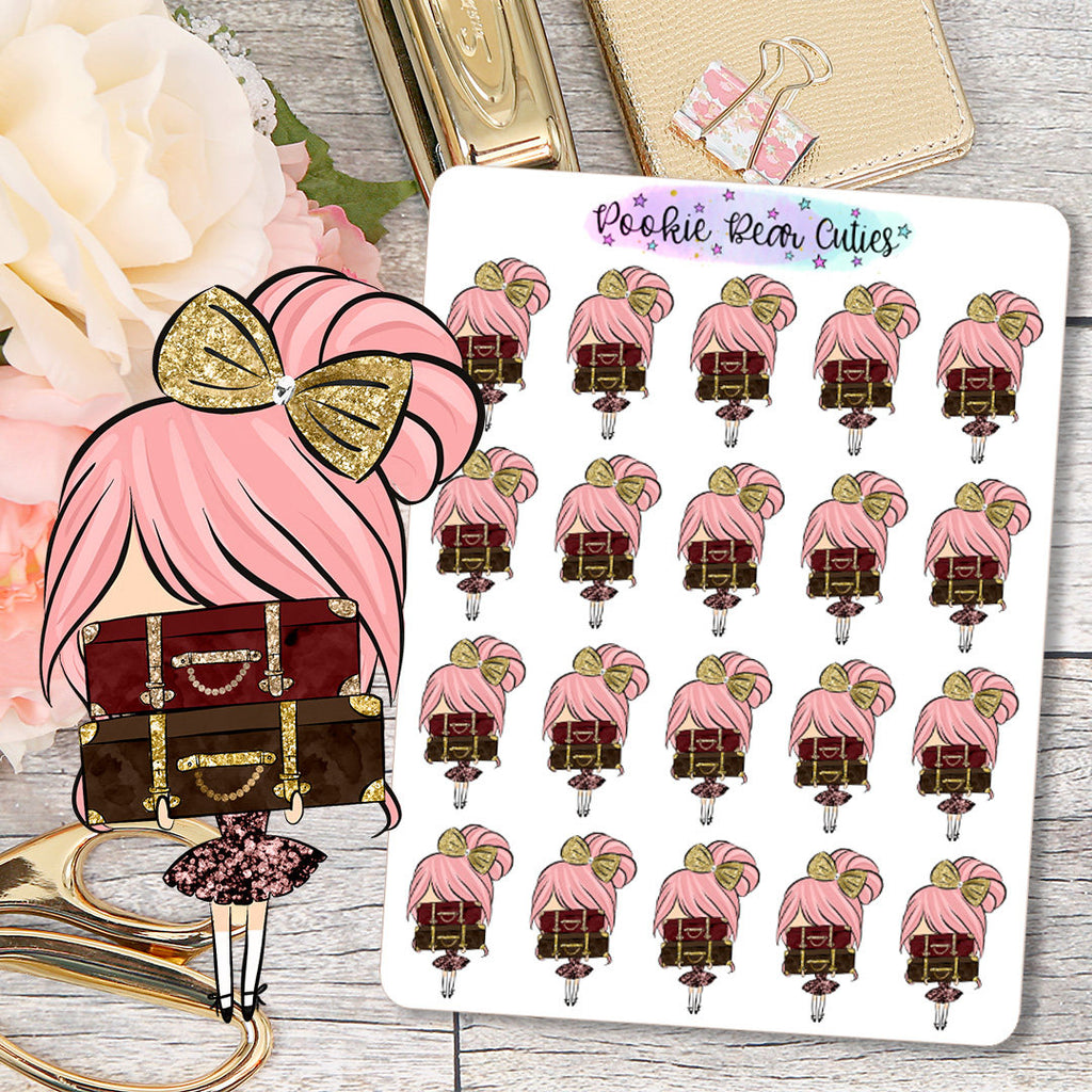 Cute Dolls- Travel/Pack Suitcase Stickers