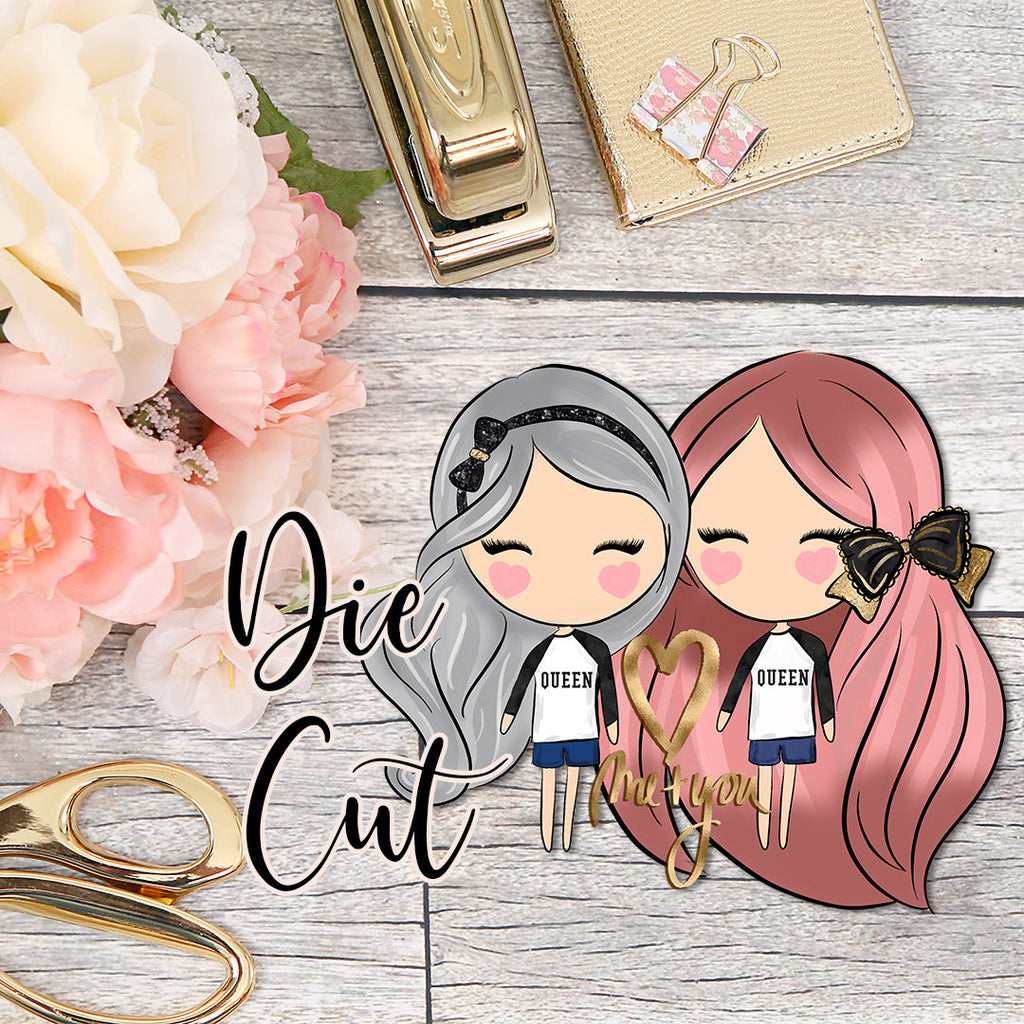 Die Cut Cute Dolls LGBT Couples