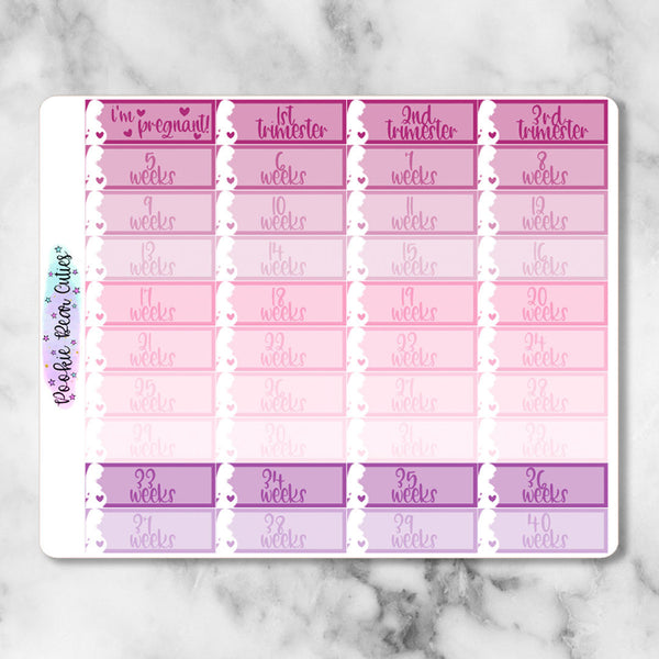 Pregnancy Tracker Stickers