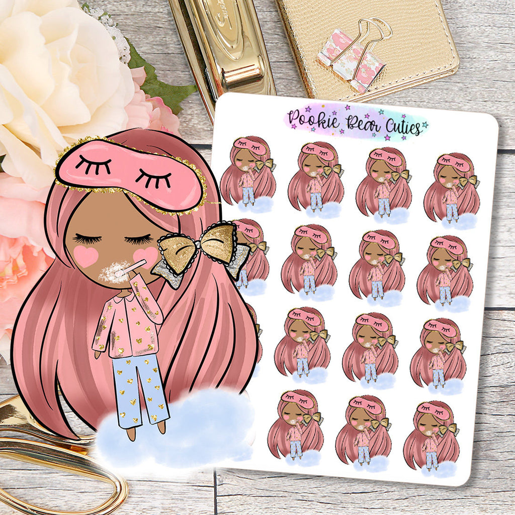 Cute Dolls- Night Time Routine/Brush Teeth Stickers