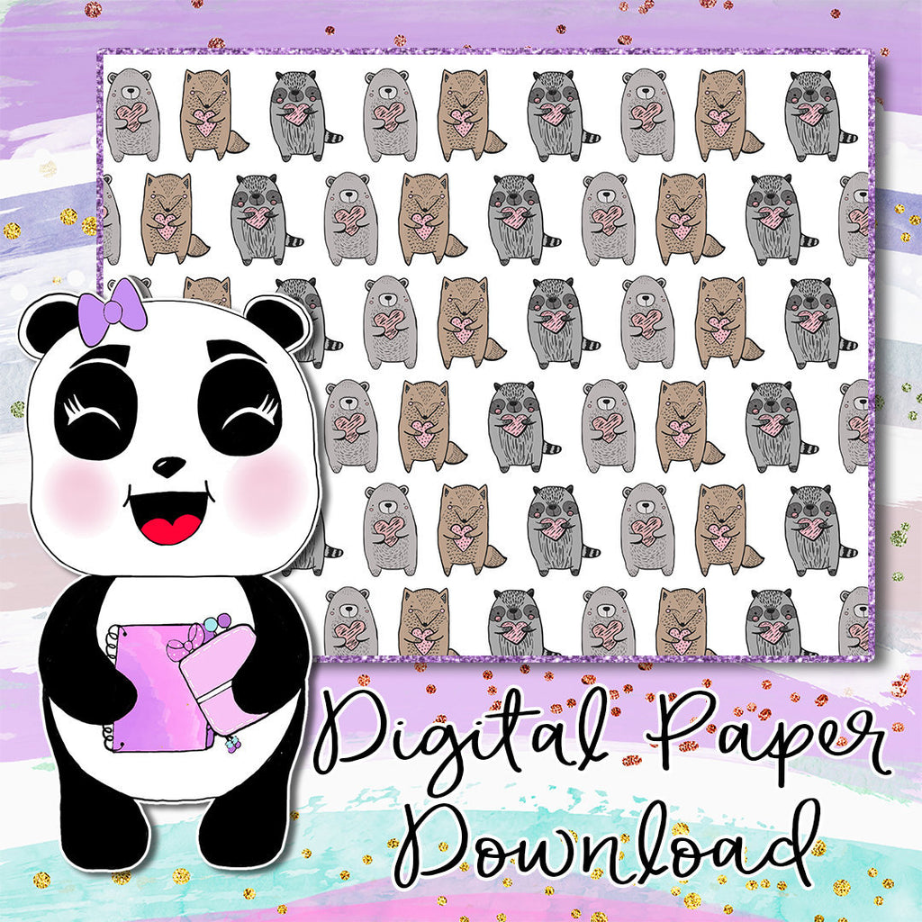 Woodland Cuties Digital Paper