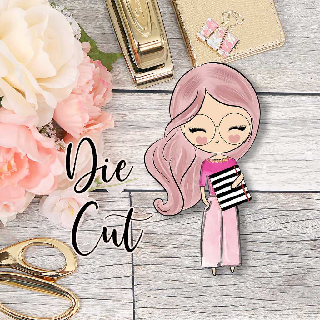 Die Cut Cute Dolls Planner Girl