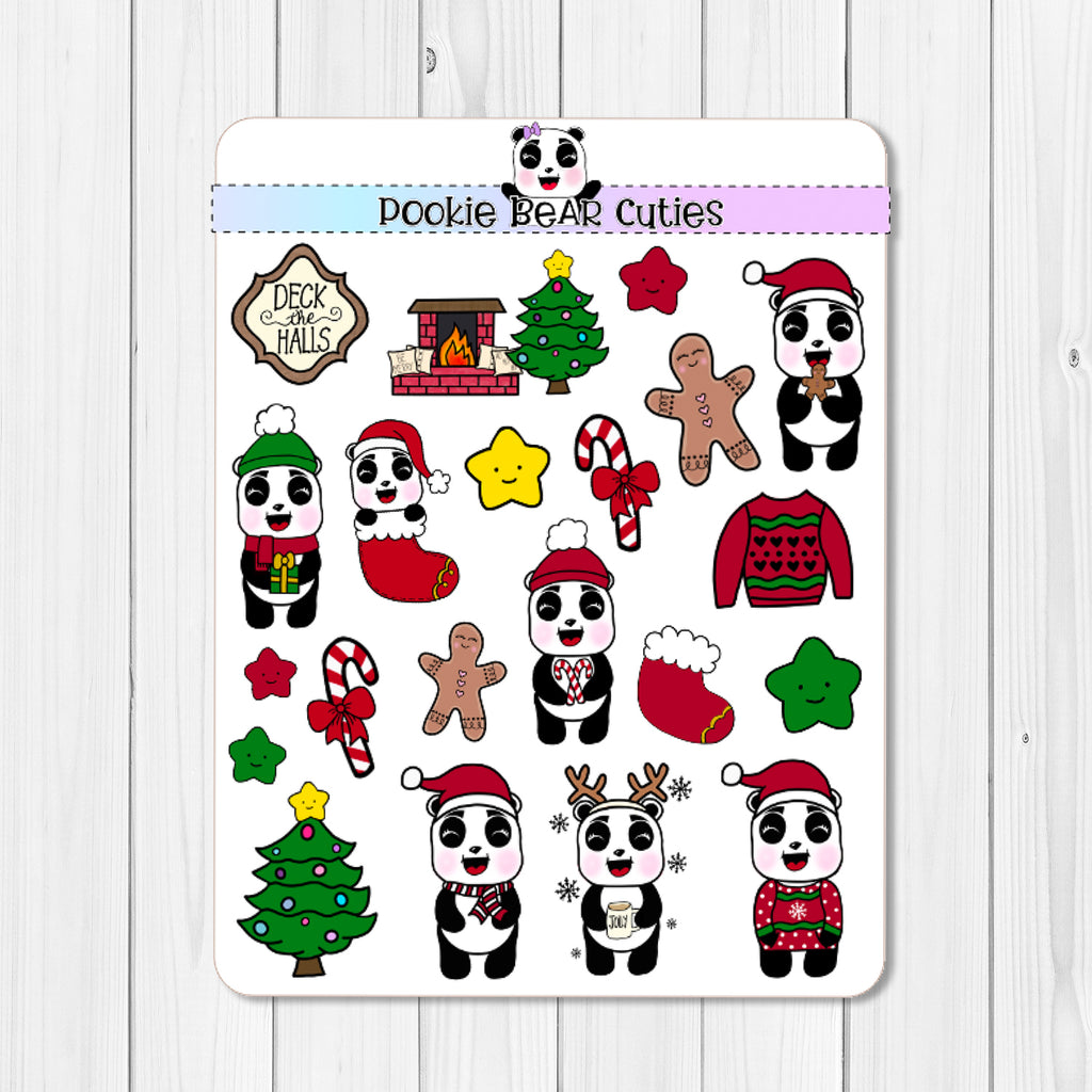 A Pookie Christmas- Traditional Deco Stickers