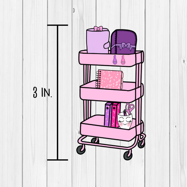 Die Cut Planner Cart