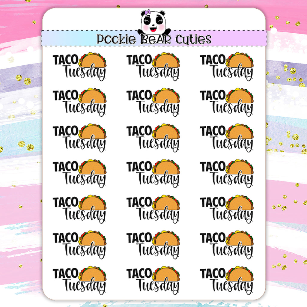 Taco Tuesday| Hand Drawn Stickers