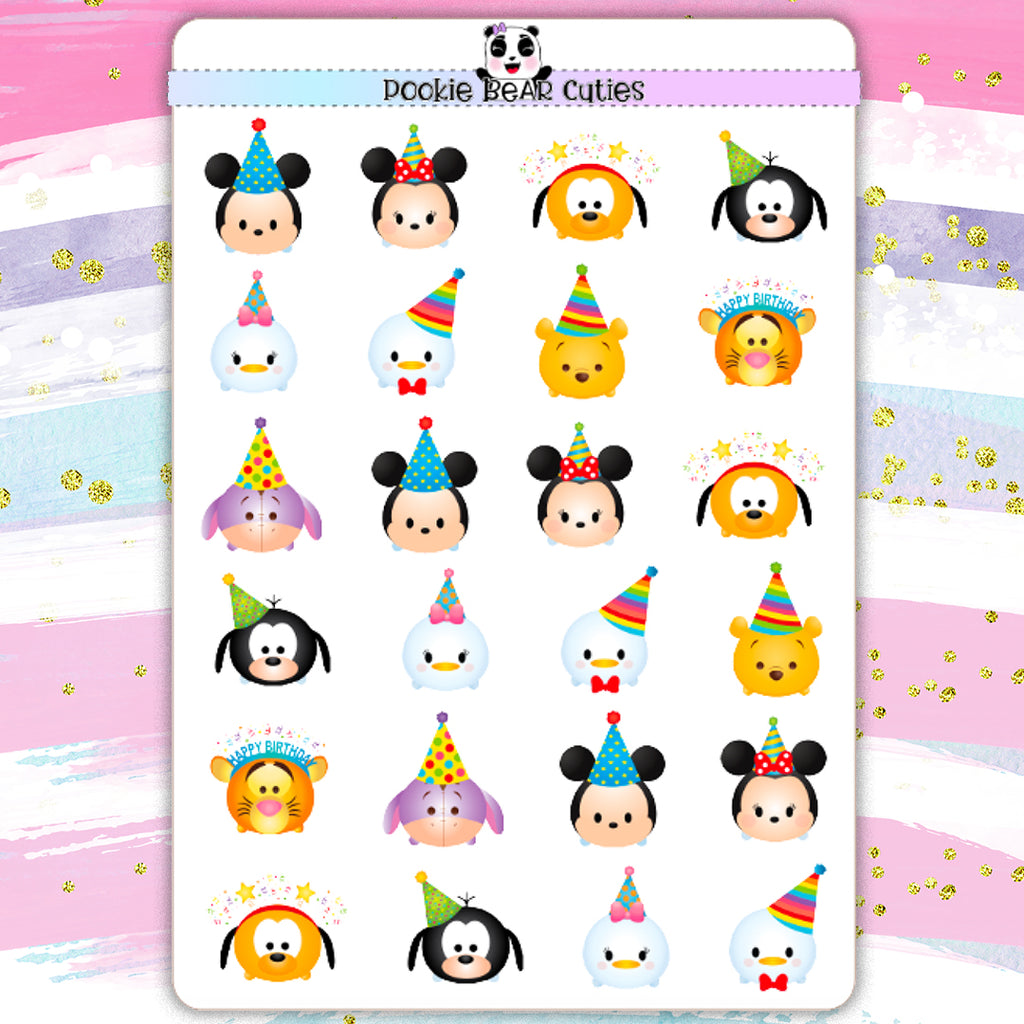 T-sum T-sum Disney Birthday Stickers