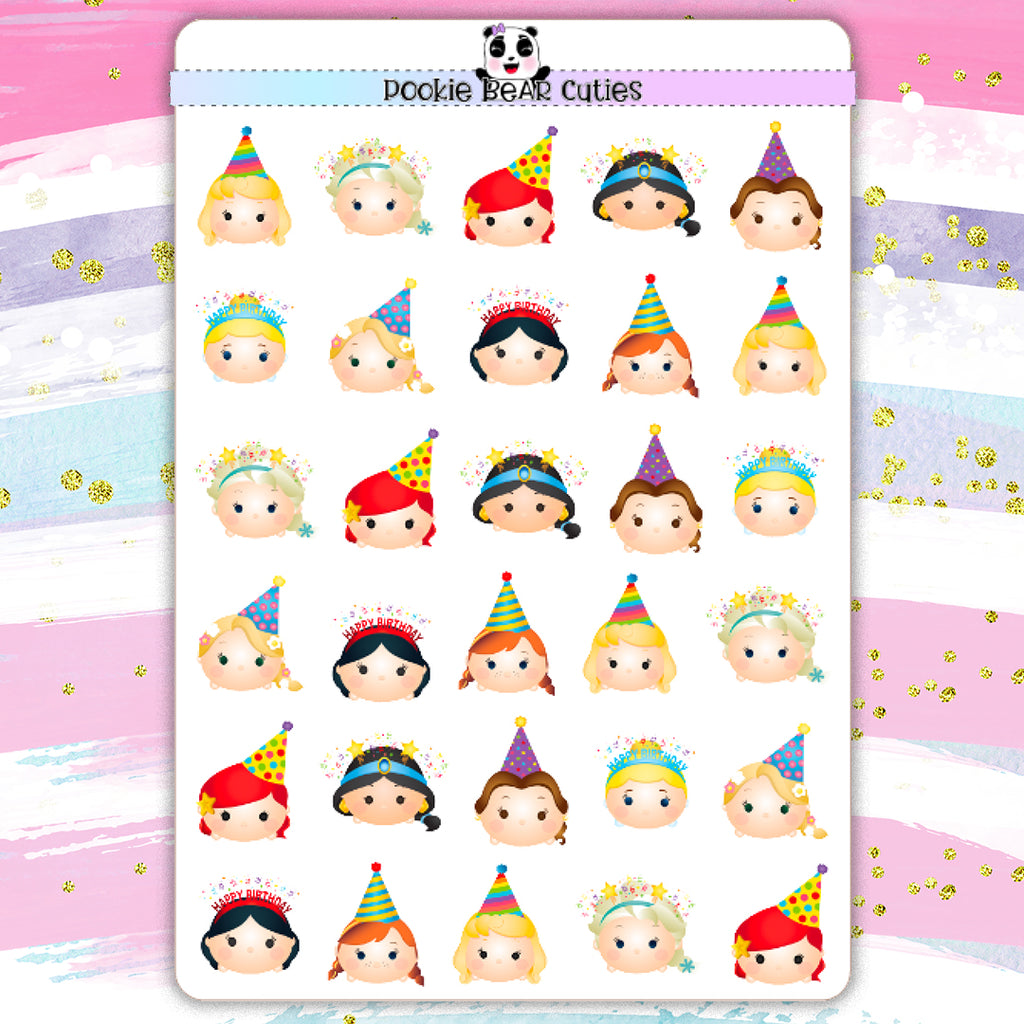 T-sum T-sum Disney Princess Birthday Stickers