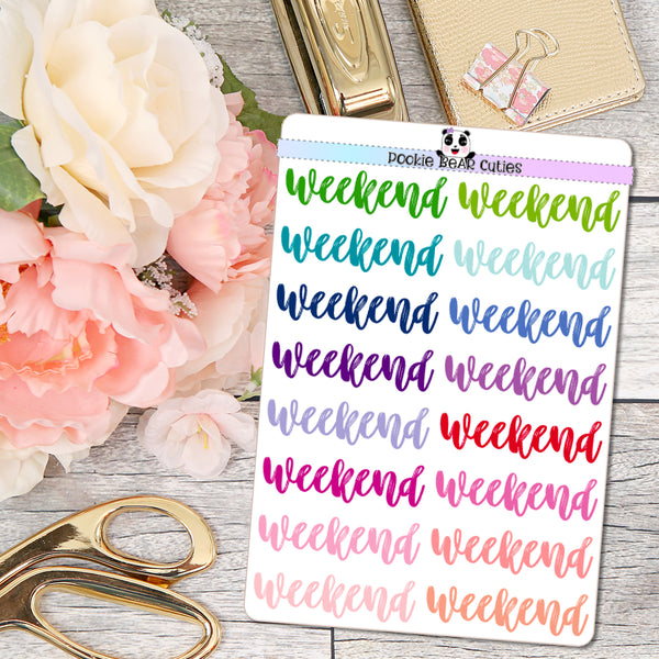 Weekend Stickers- Colorful