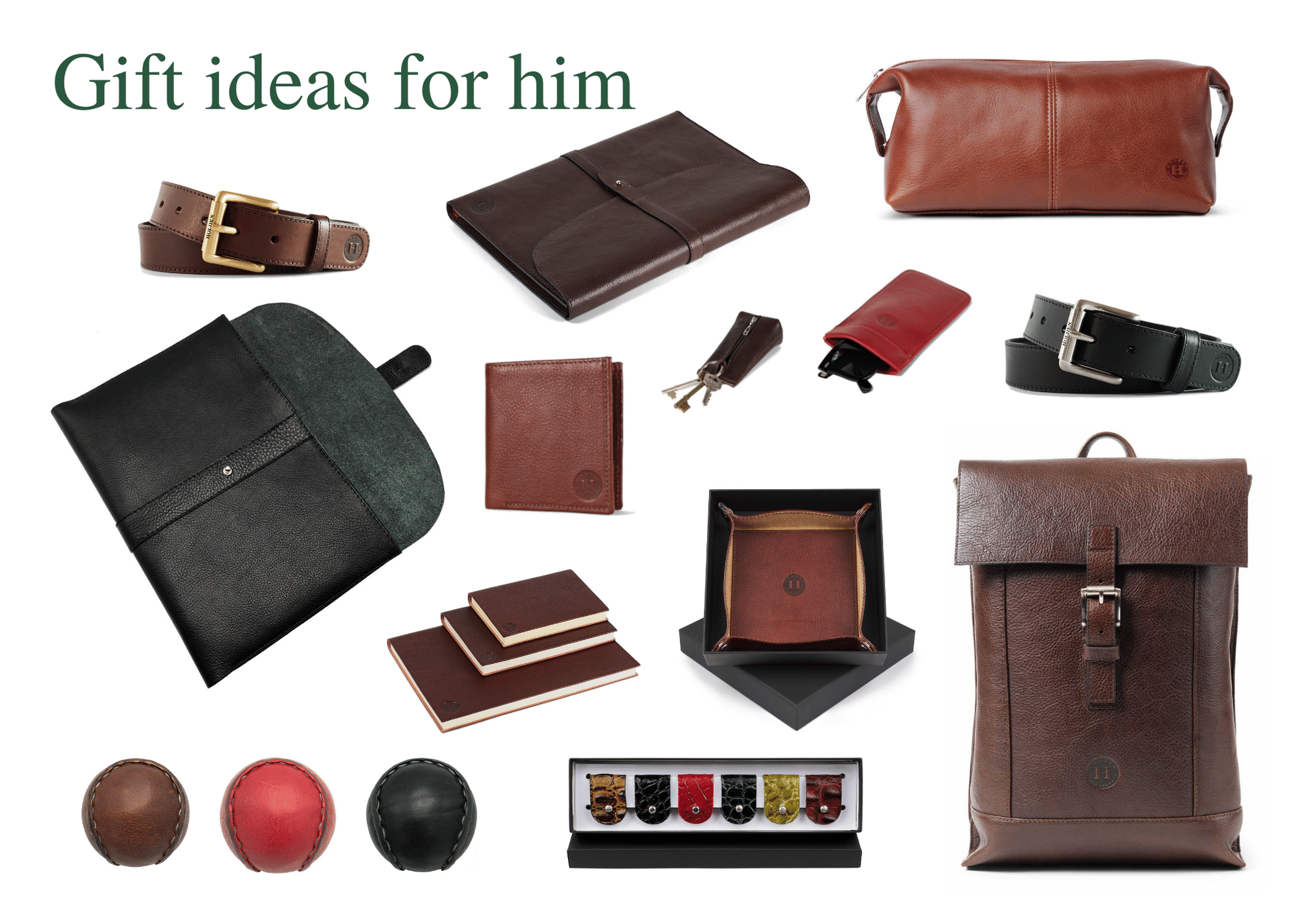 Leathergoods gift ideas for men, for Father's Day