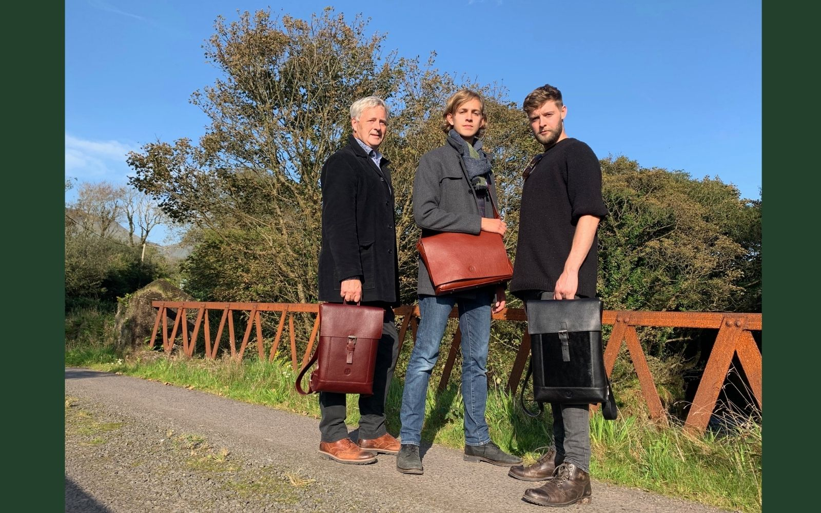 Leathergoods for men, handmade in Ireland, wallets, briefcases, stationery , belts and accessories.
