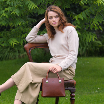 Aoife Small Handbag - Chestnut