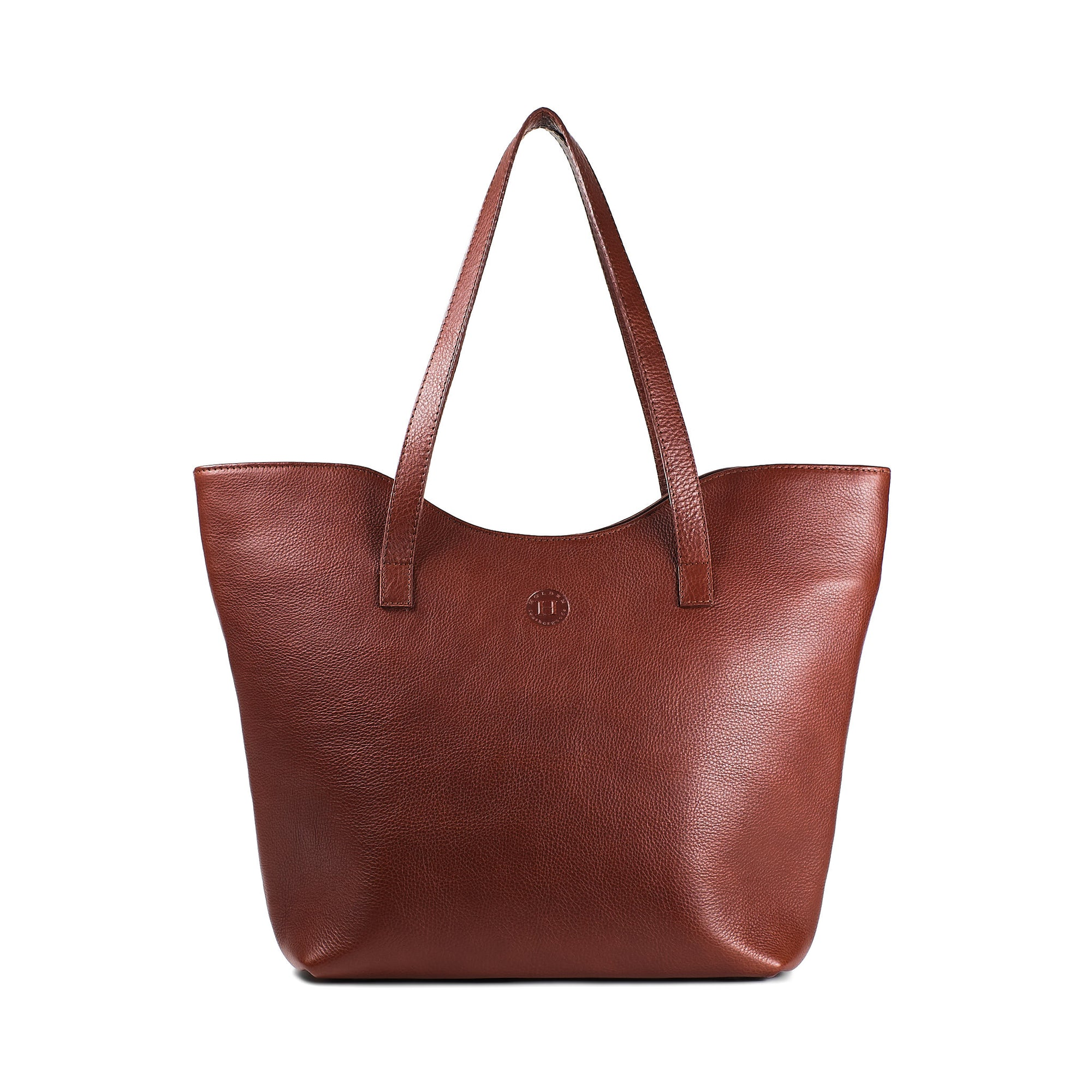 Caitlin Classic Large Tote - Chestnut