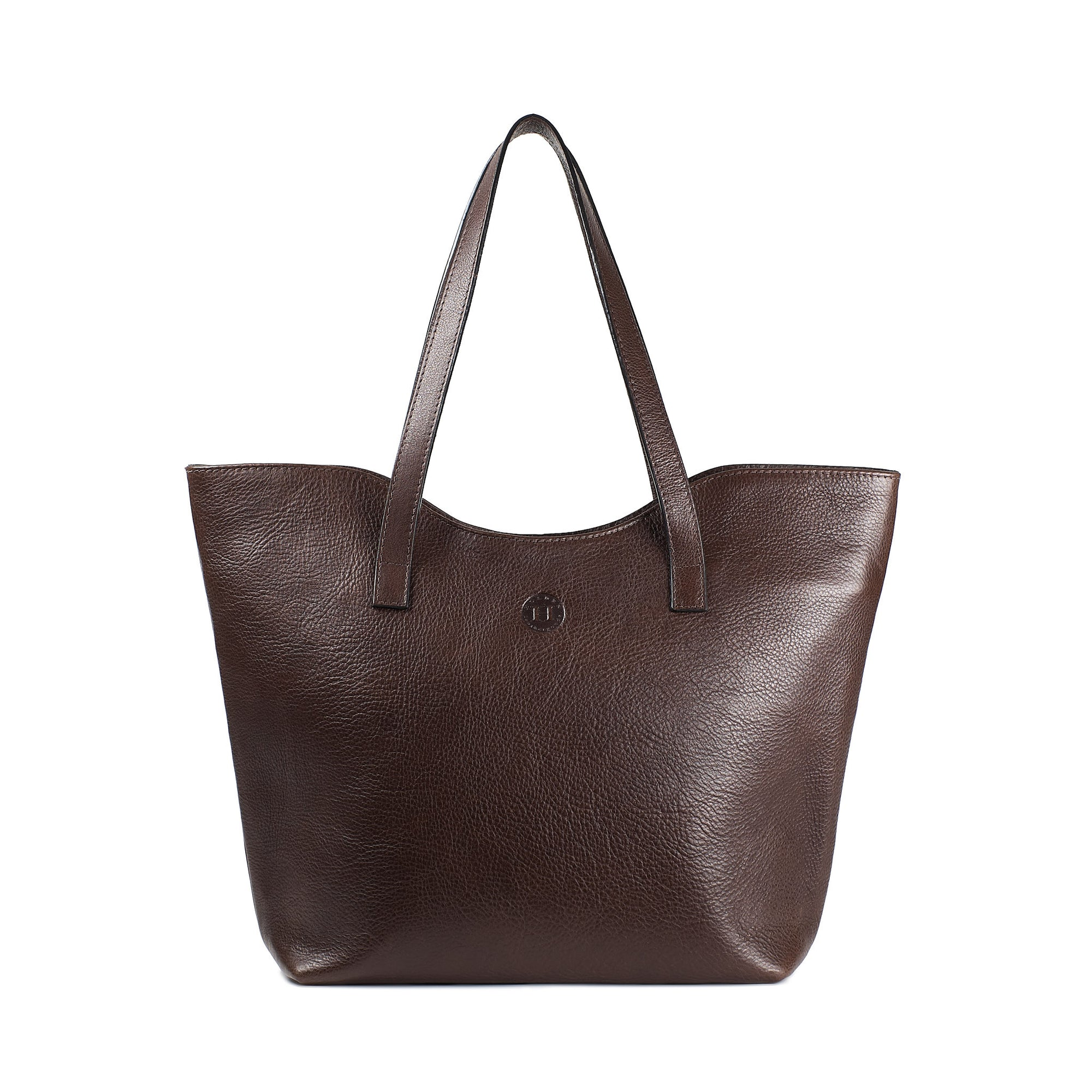 Caitlin Classic Large Tote - Dark Brown