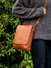Eithne Medium Cross-Body Bag - Dark Brown