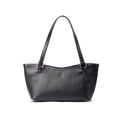 Caitlin Medium Leather Tote Black - Holden Leathergoods, leather bags handmade in Ireland - 1
