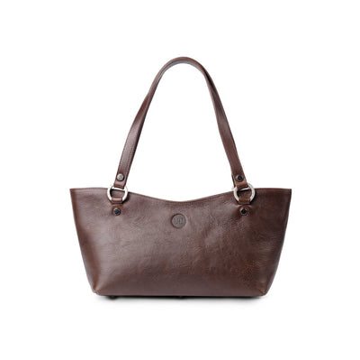Caitlin Medium Leather Tote Dark Brown - Holden Leathergoods, leather bags handmade in Ireland - 1