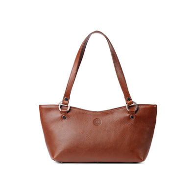 Caitlin Medium Leather Tote Chestnut - Holden Leathergoods, leather bags handmade in Ireland - 1