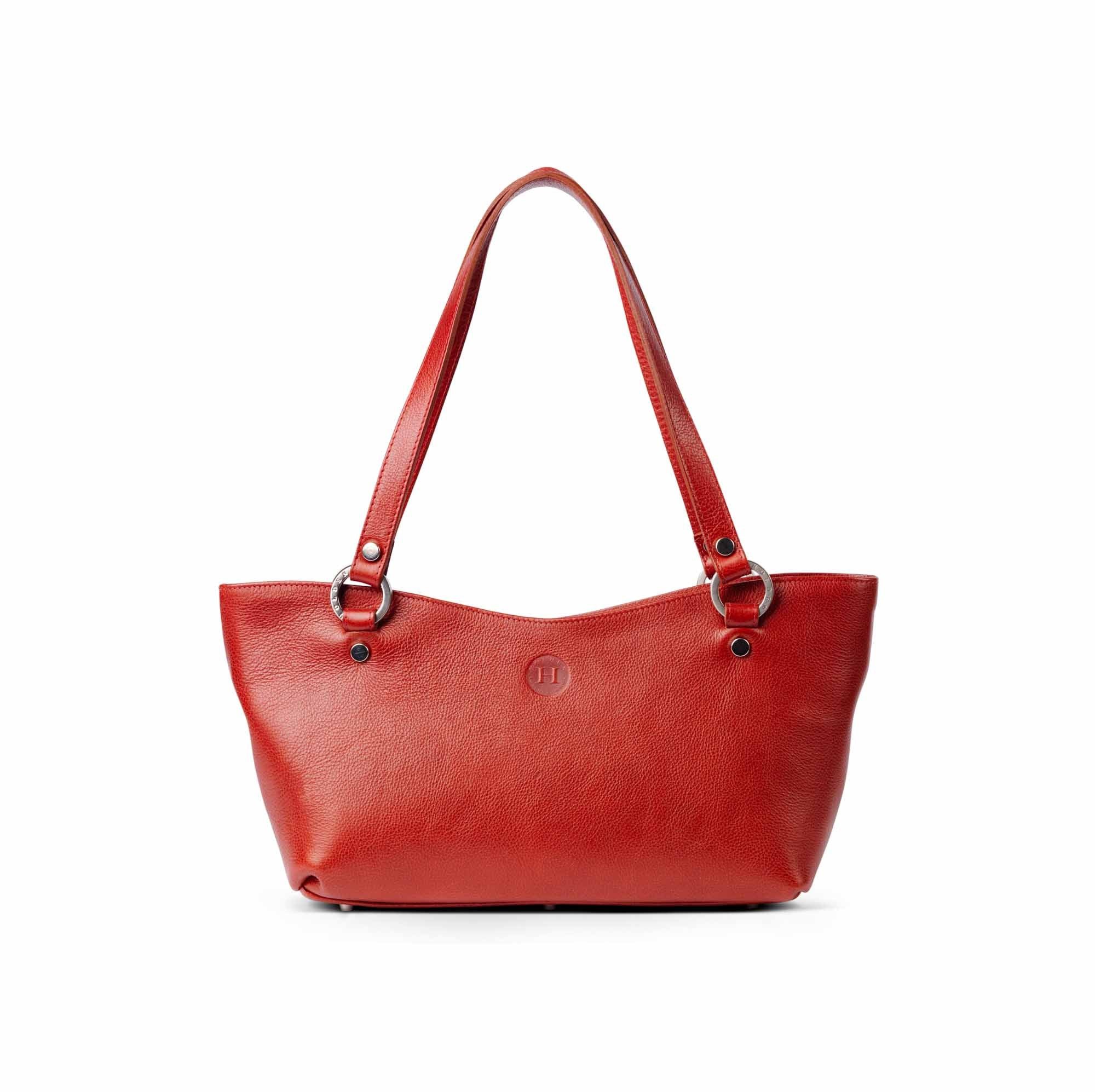 Caitlin Medium Leather Tote Red - Holden Leathergoods, leather bags handmade in Ireland