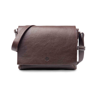 Holden Leather Laptop Bag Brown - Holden Leathergoods, leather bags handmade in Ireland - 1