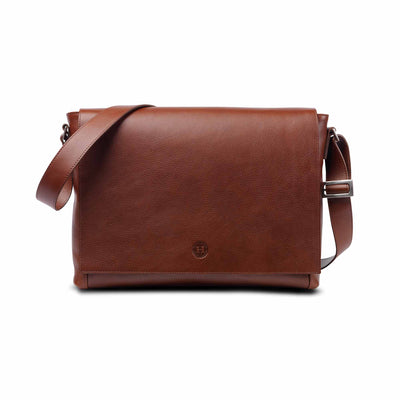 Holden Leather Laptop Bag Chestnut - Holden Leathergoods, leather bags handmade in Ireland - 1
