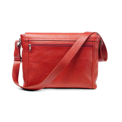 Holden Leather Laptop Messenger Bag Red - Holden Leathergoods, leather bags handmade in Ireland - 2