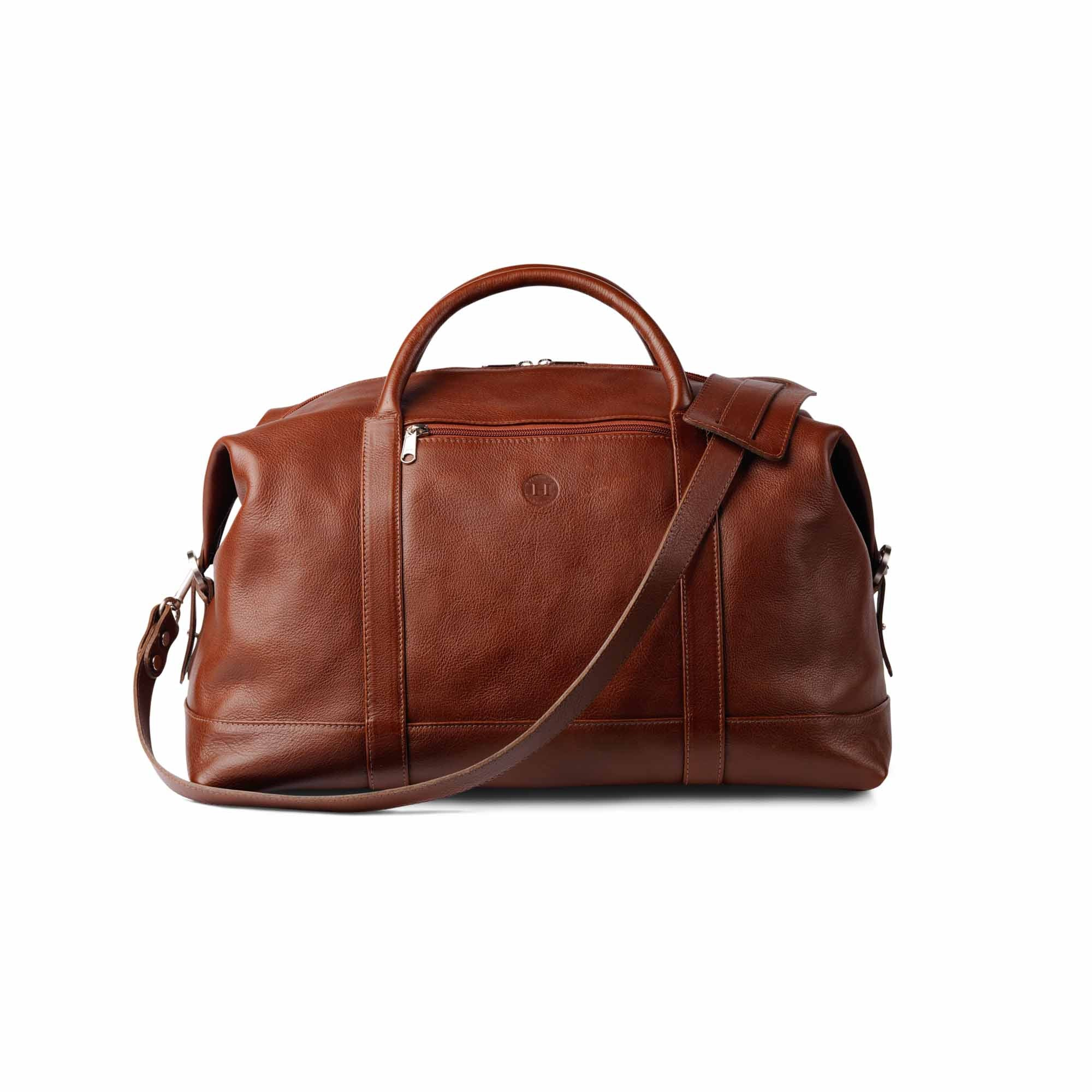 Holden Leather Duffle Travel Bag Chestnut - Holden Leathergoods, leather bags handmade in Ireland