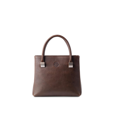 Aoife Leather Handbag Medium Dark Brown - Holden Leathergoods, leather bags handmade in Ireland