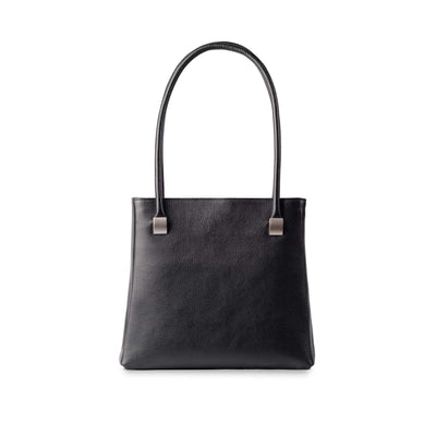 Aoife Leather Shoulder Bag Black - Holden Leathergoods, leather bags handmade in Ireland