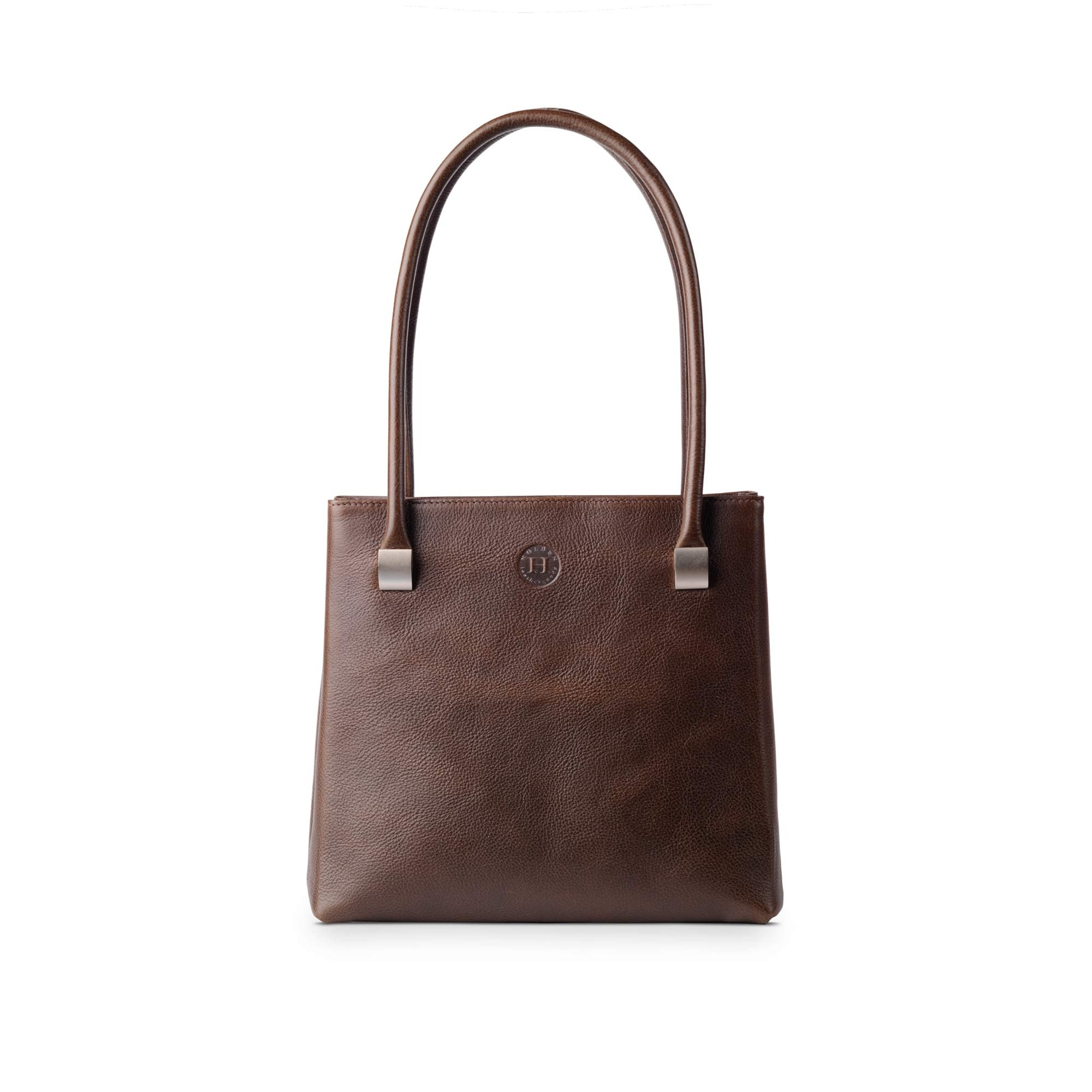 Aoife Leather Shoulder Bag Dark Brown - Holden Leathergoods, leather bags handmade in Ireland